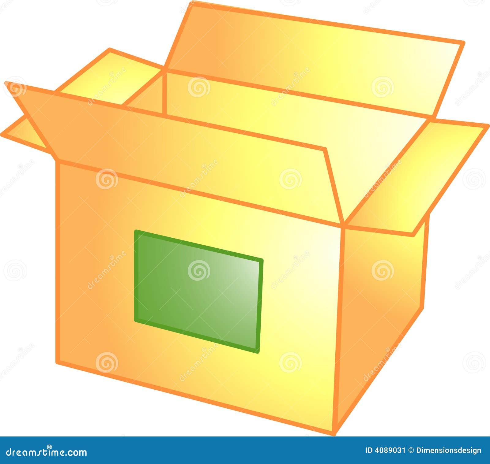 Open Box Icon Or Symbol Stock Illustration Illustration Of Move