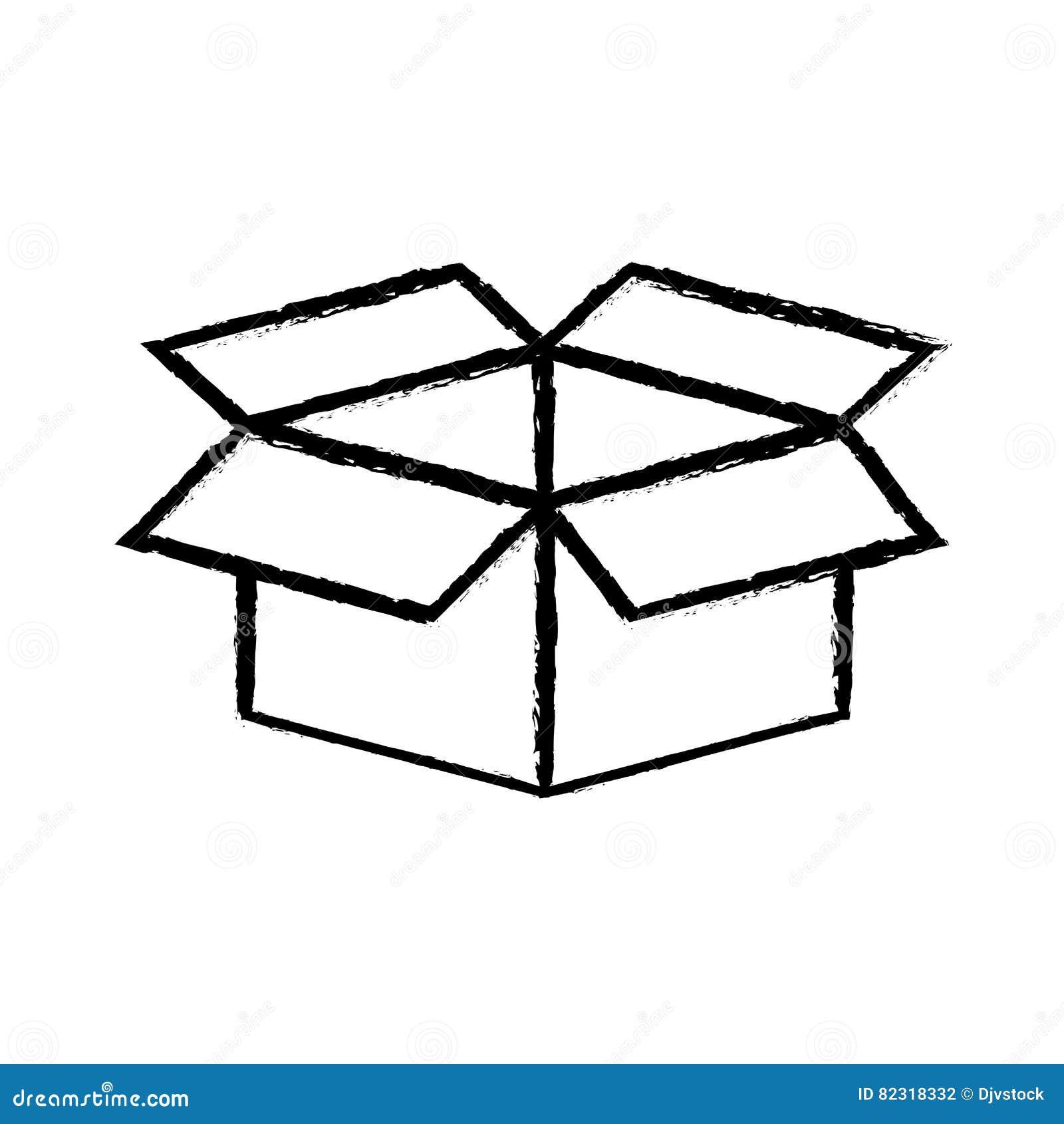 Open Box Symbol Stock Illustration Illustration Of Empty 82318332