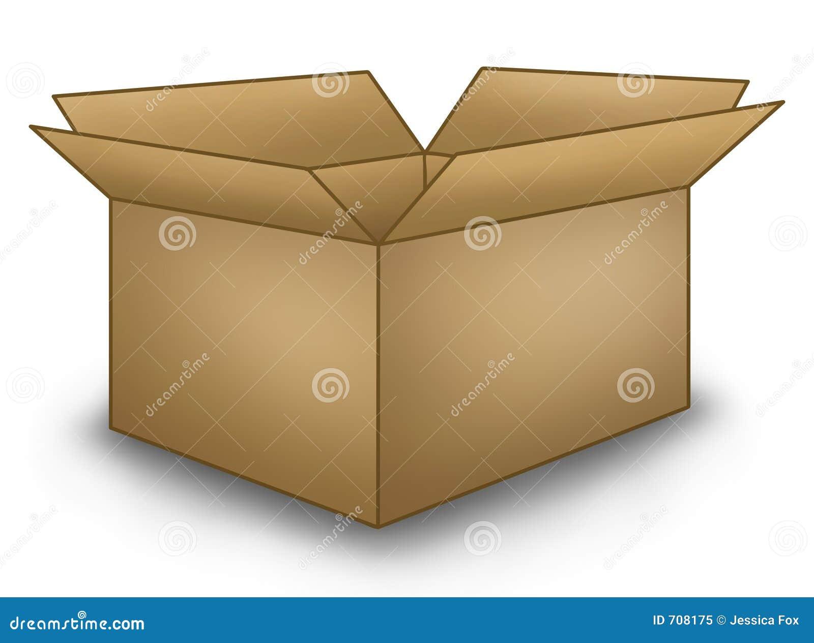 open brown box stock illustration image of shipping cardboard 708175. Black Bedroom Furniture Sets. Home Design Ideas