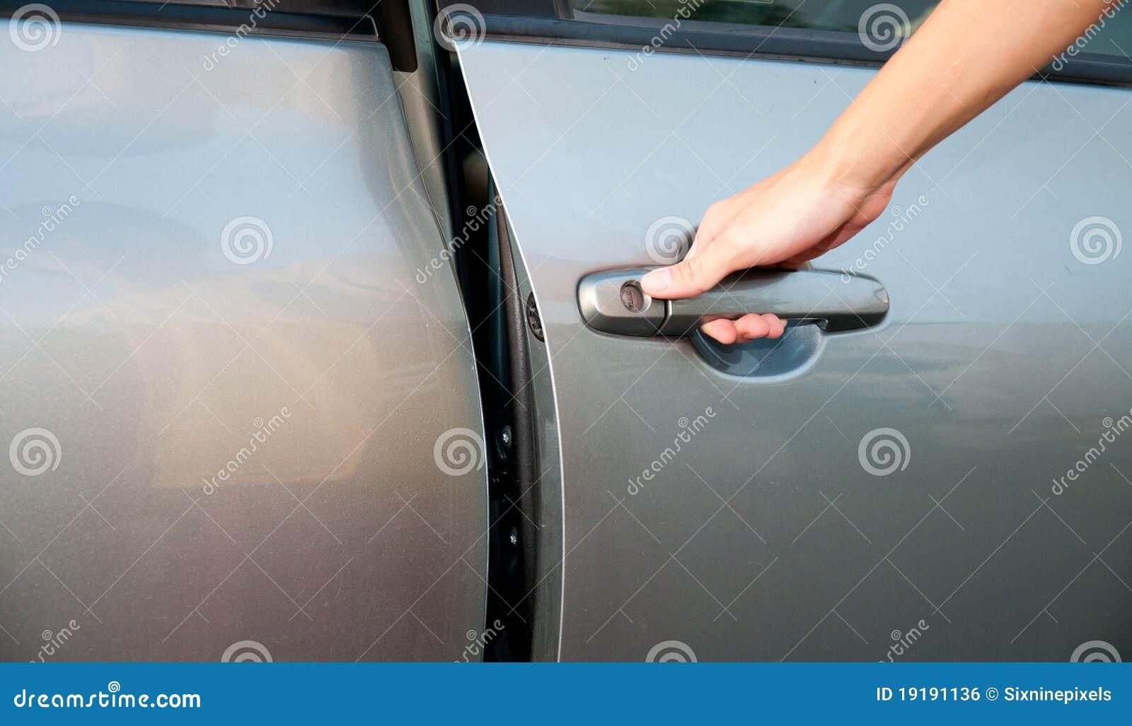 Open Car Door Stock Photo Image Of Hand Driver Male