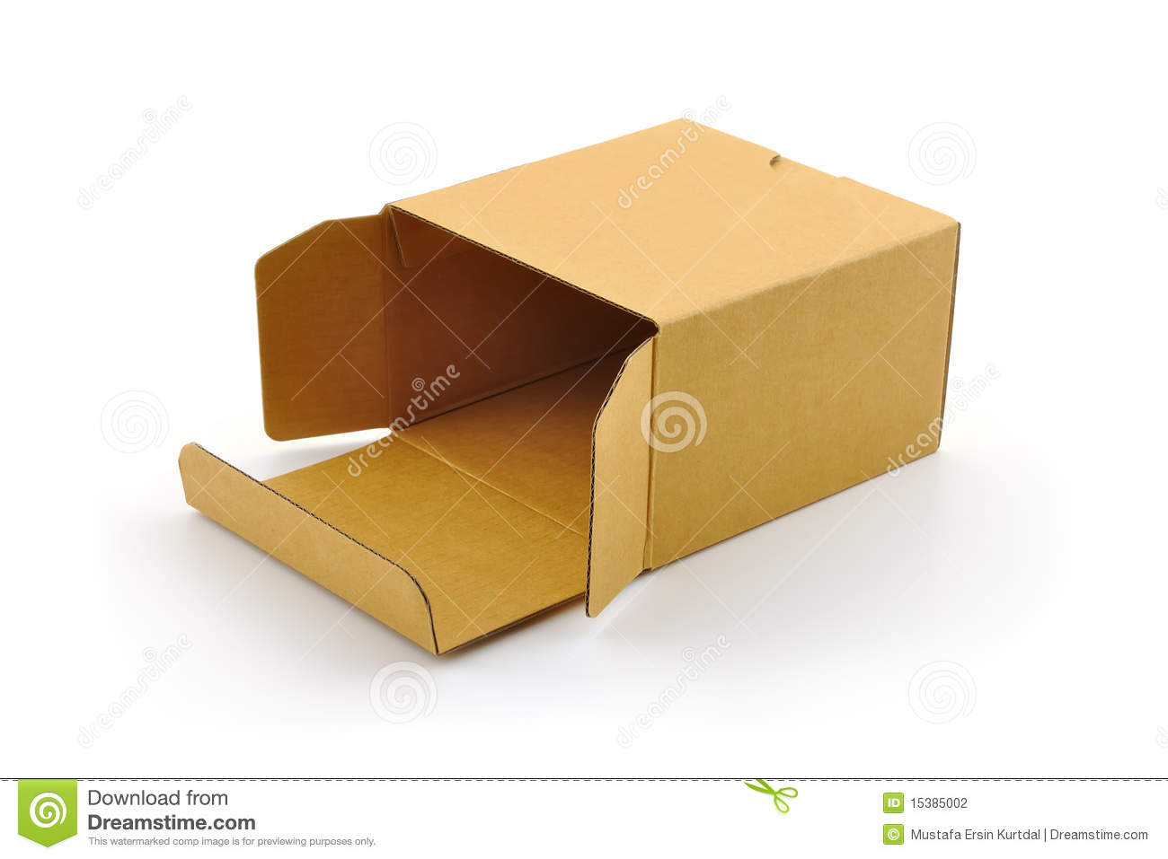 Open Cardboard Box Stock Image - Image: 17178121