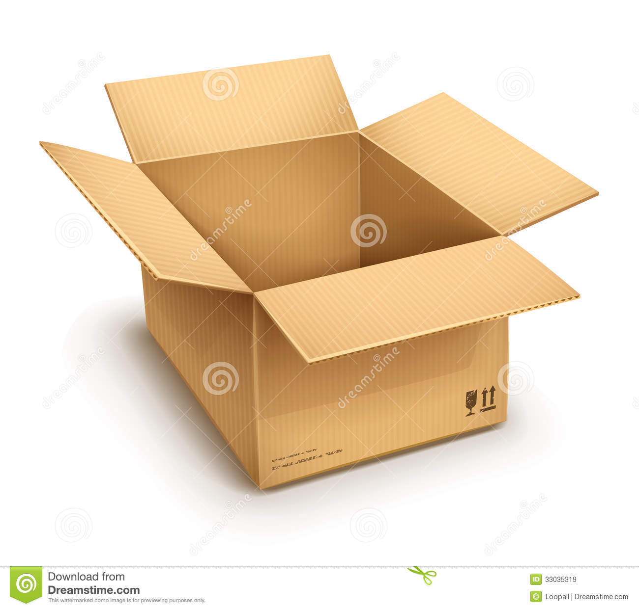 Open Cardboard Box Royalty Free Stock Images Image 33035319