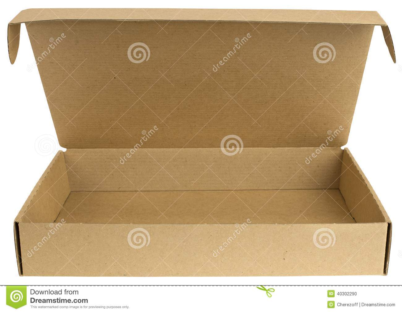 Open Cardboard Box With A Lid Stock Photo Image Of
