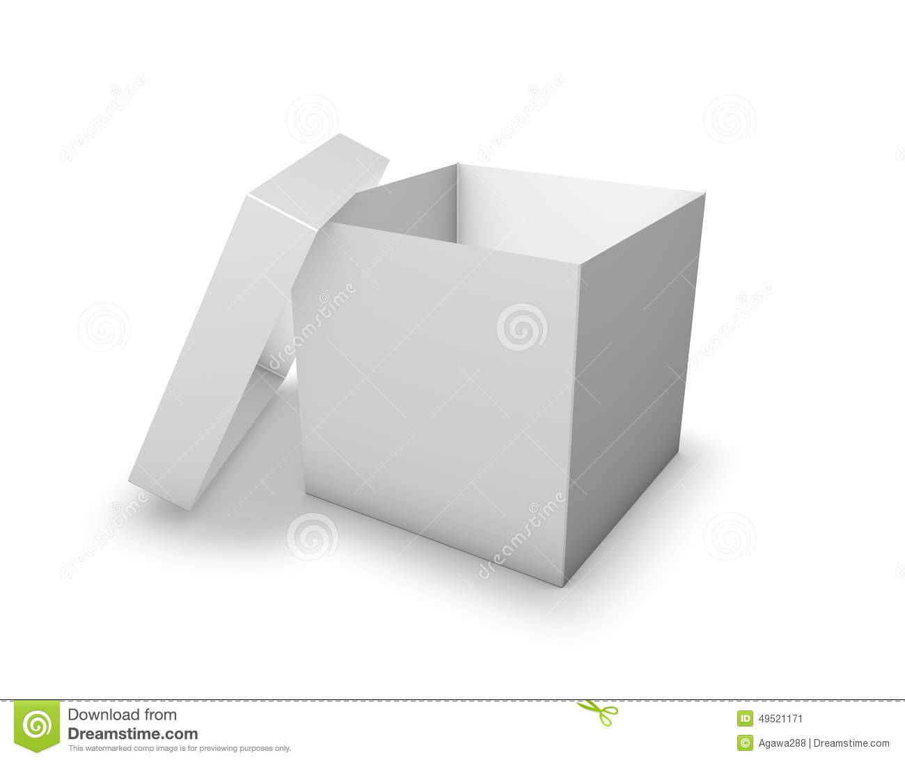 Open Carton Box Product Packaging Template Illustration