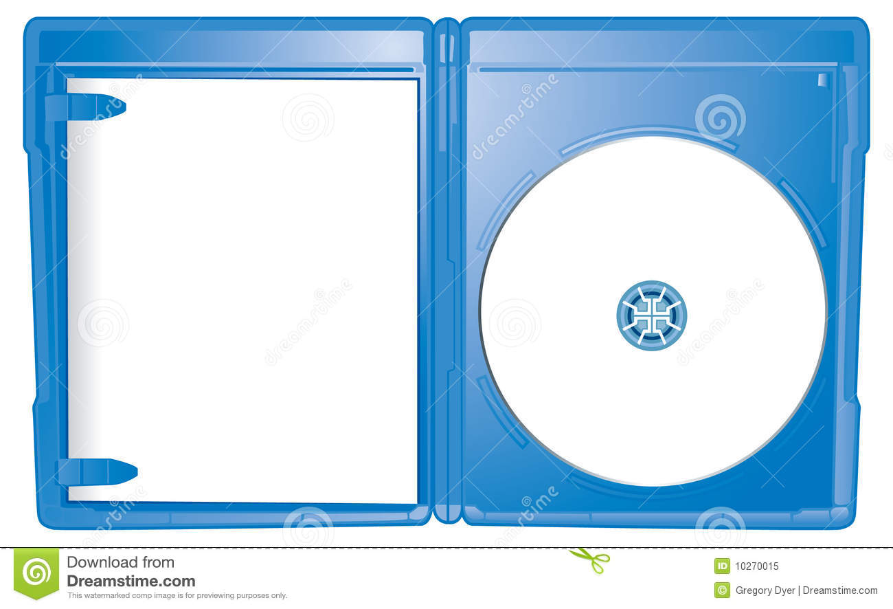 Open Case Blu Ray Template Stock Vector Illustration Of Vector