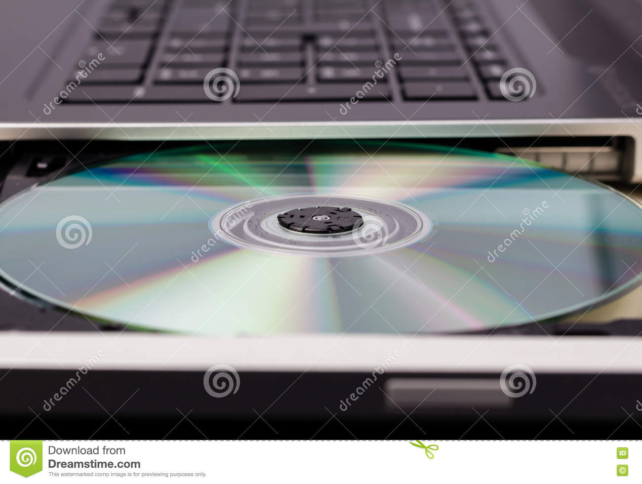 Open Cd Rom Drive With Blank Cd Rw Stock Image Image Of Across
