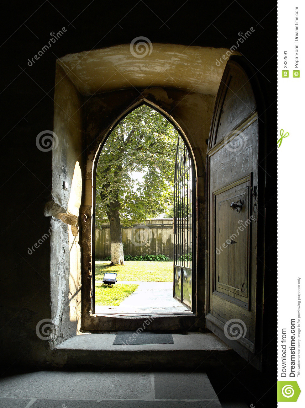 Open Church Door Stock Image Image Of Convent European