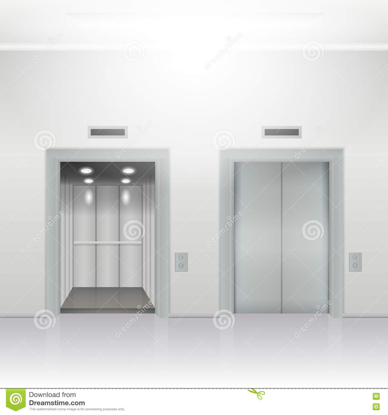 Open And Close Elevator Stock Illustration - Image: 69707764