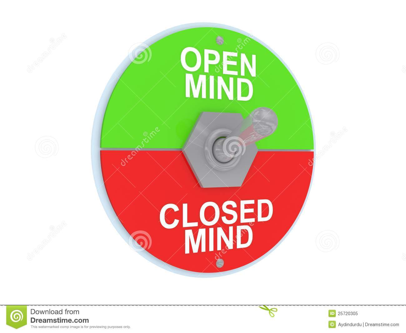 Open And Closed Mind Switch Royalty Free Stock Photo  Image: 25720305