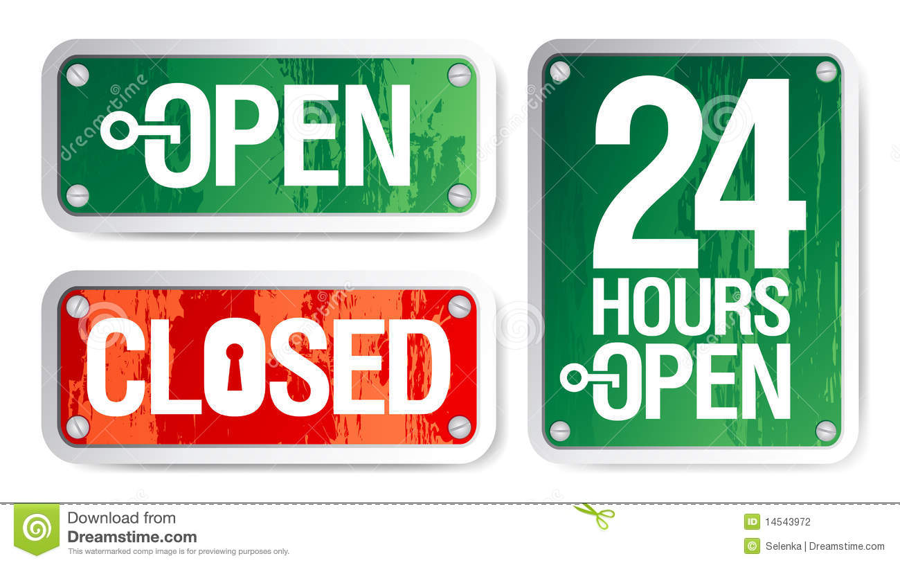 Open And Closed Signs Stock Photography Image 14543972