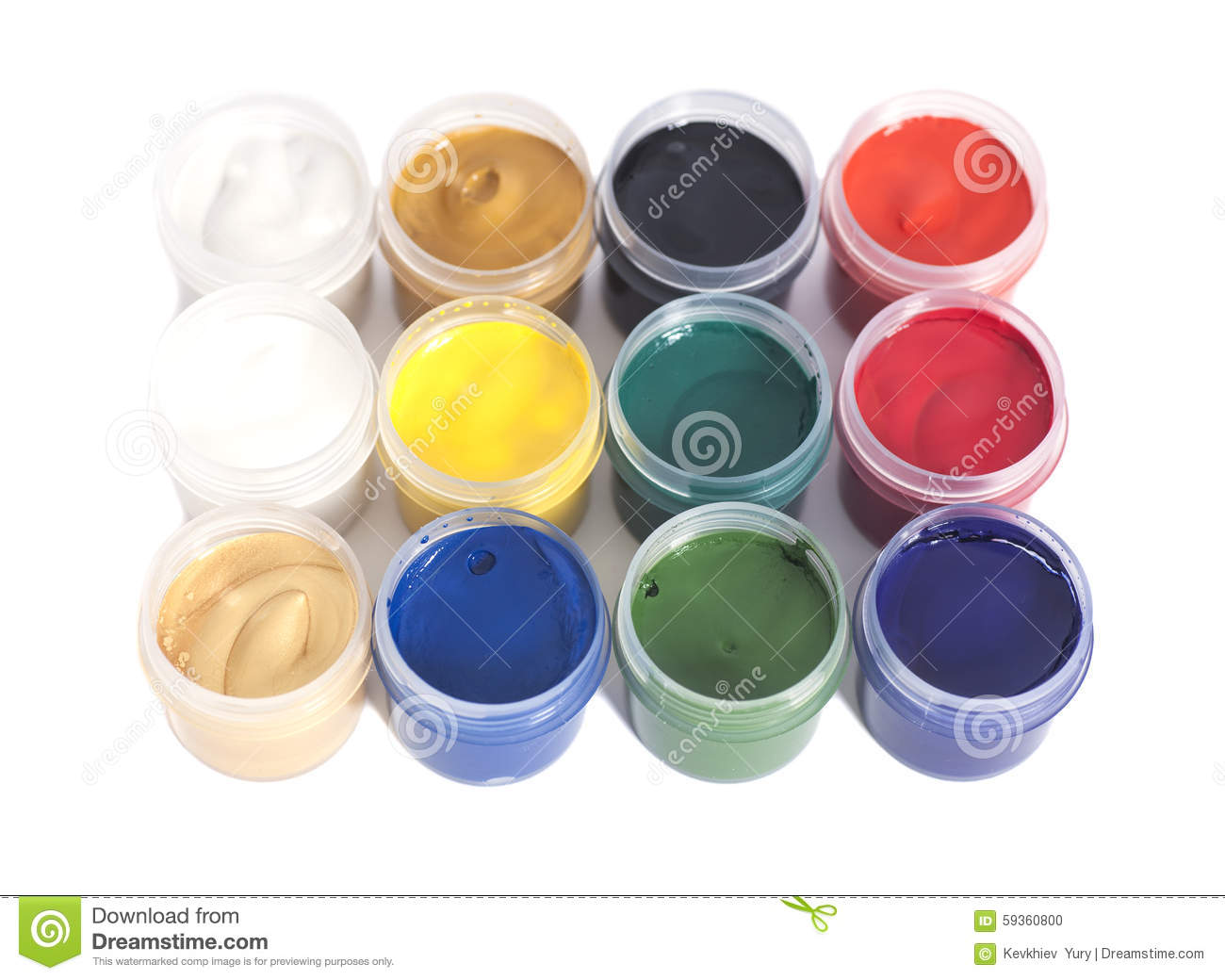 Open Paint Cans Vector