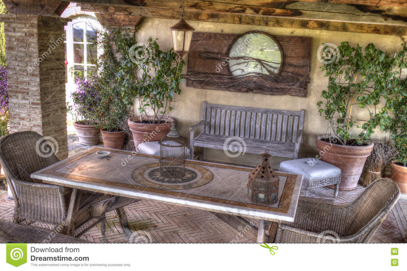 Open Country Living Room Stock Photo Image Of Garden 80915954