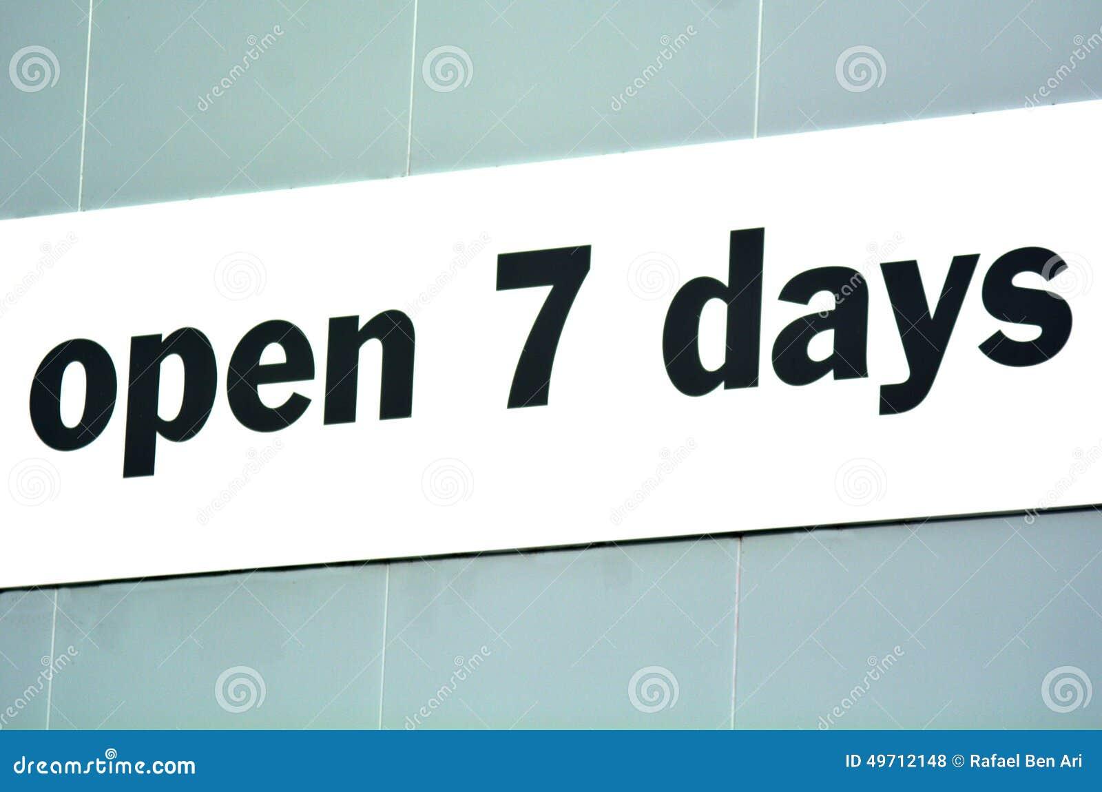 Open 7 dagen