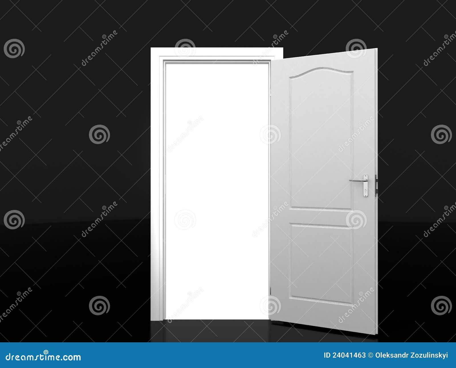 Open de witte deur stock foto 39 s afbeelding 24041463 - Idee gang ingang ...