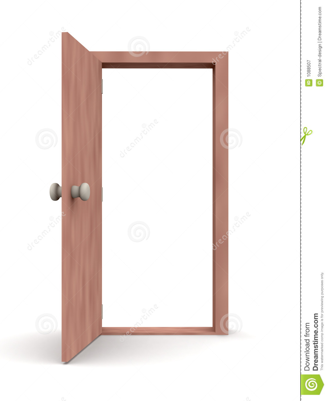 Open door cartoon style 1 royalty free stock photography for Porte ouverte