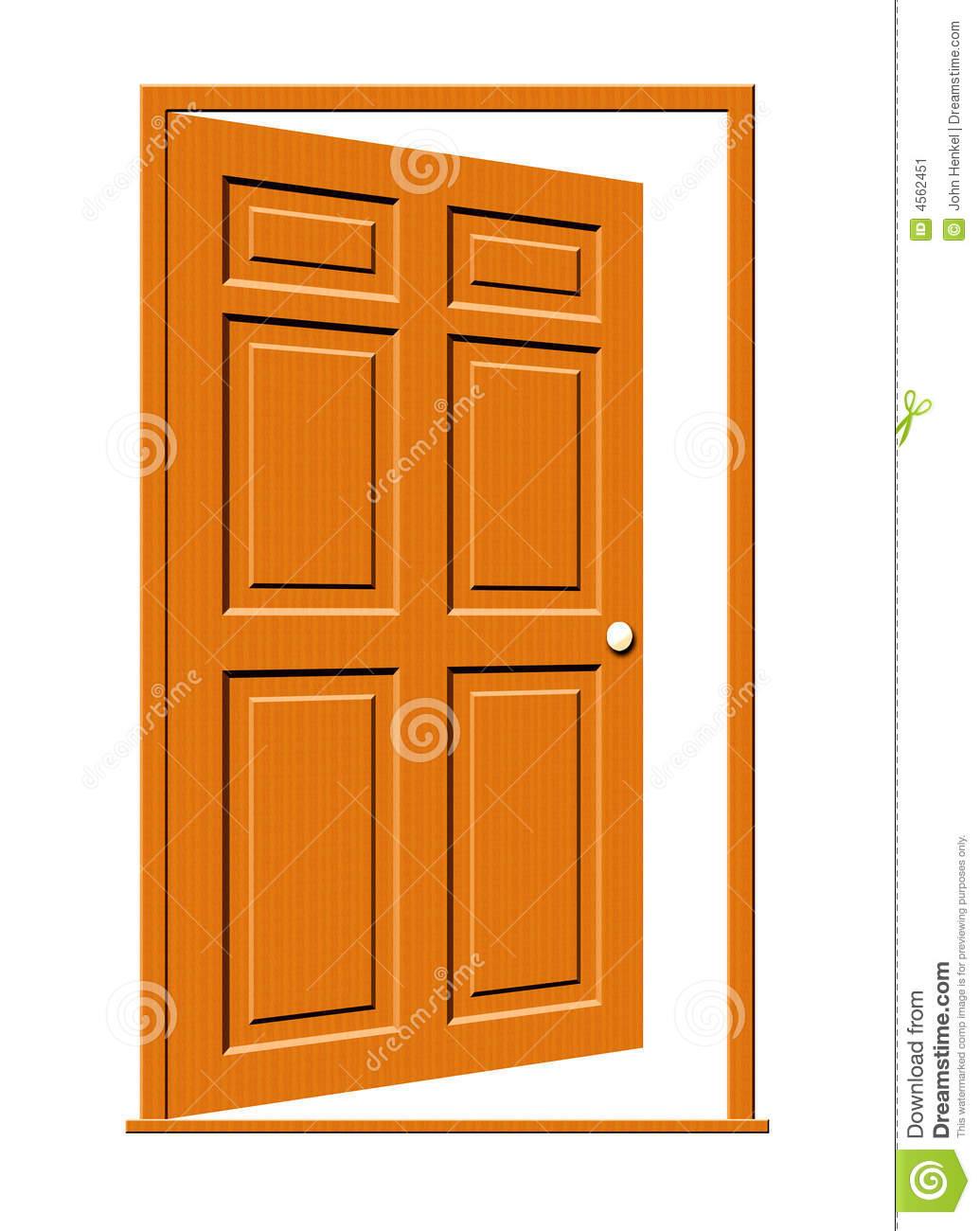 Open door illustration stock image image 4562451 for Puerta en ingles