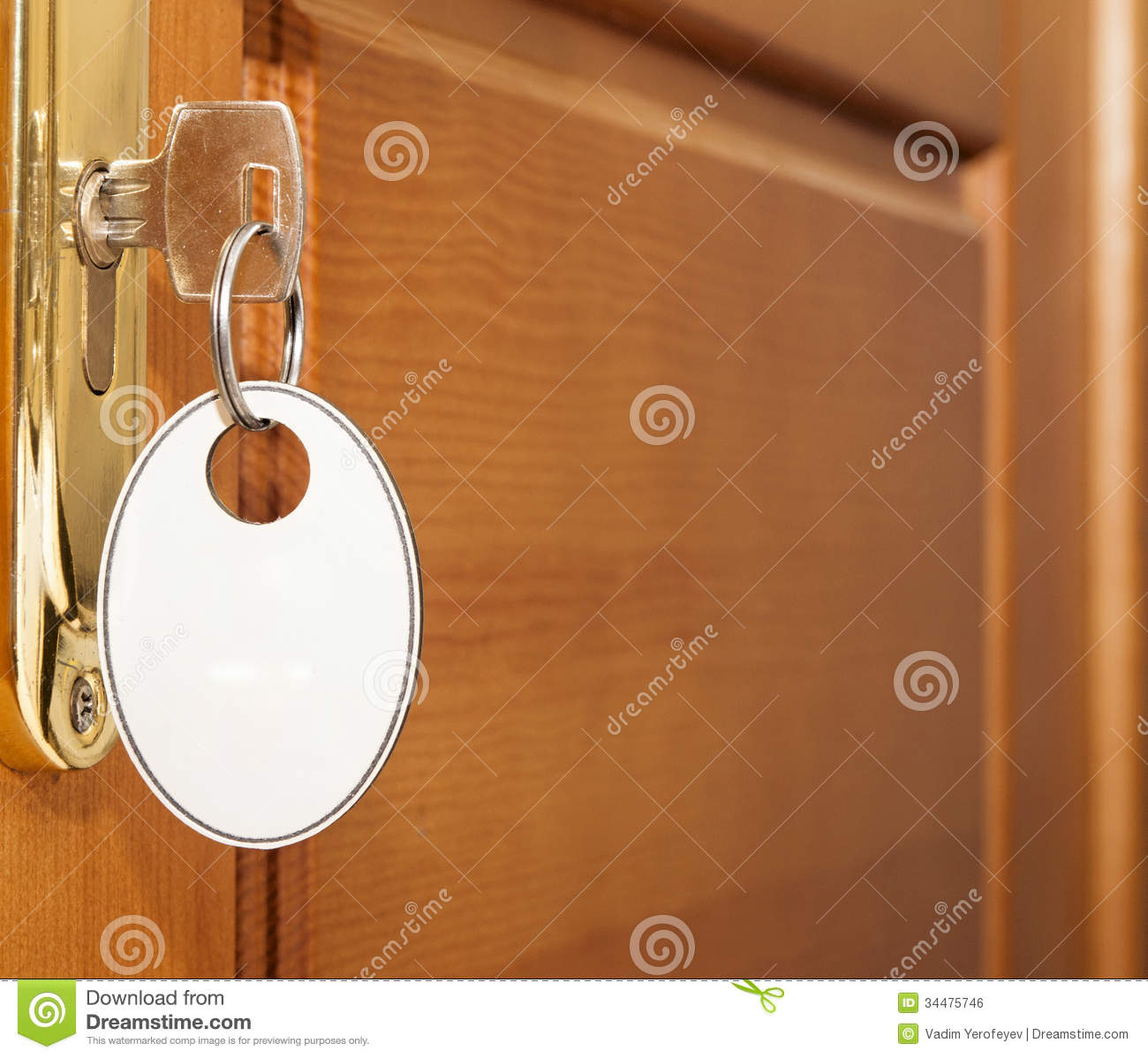 Open Door With Key Stock Photo Image Of Detailed Home