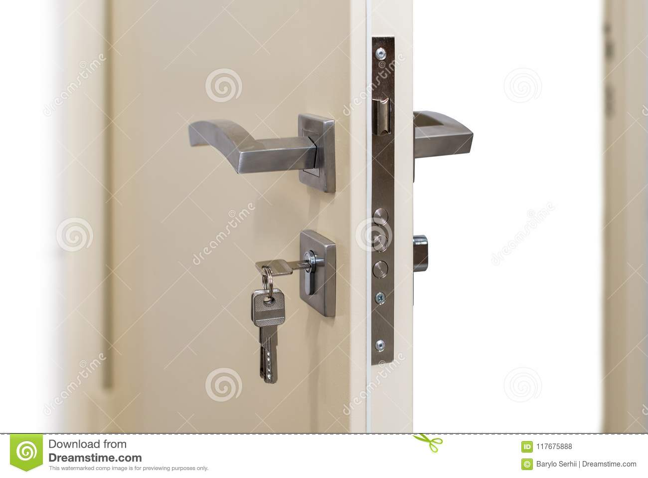 Open Armored Door Door Lock Metal Door Modern Interior Design