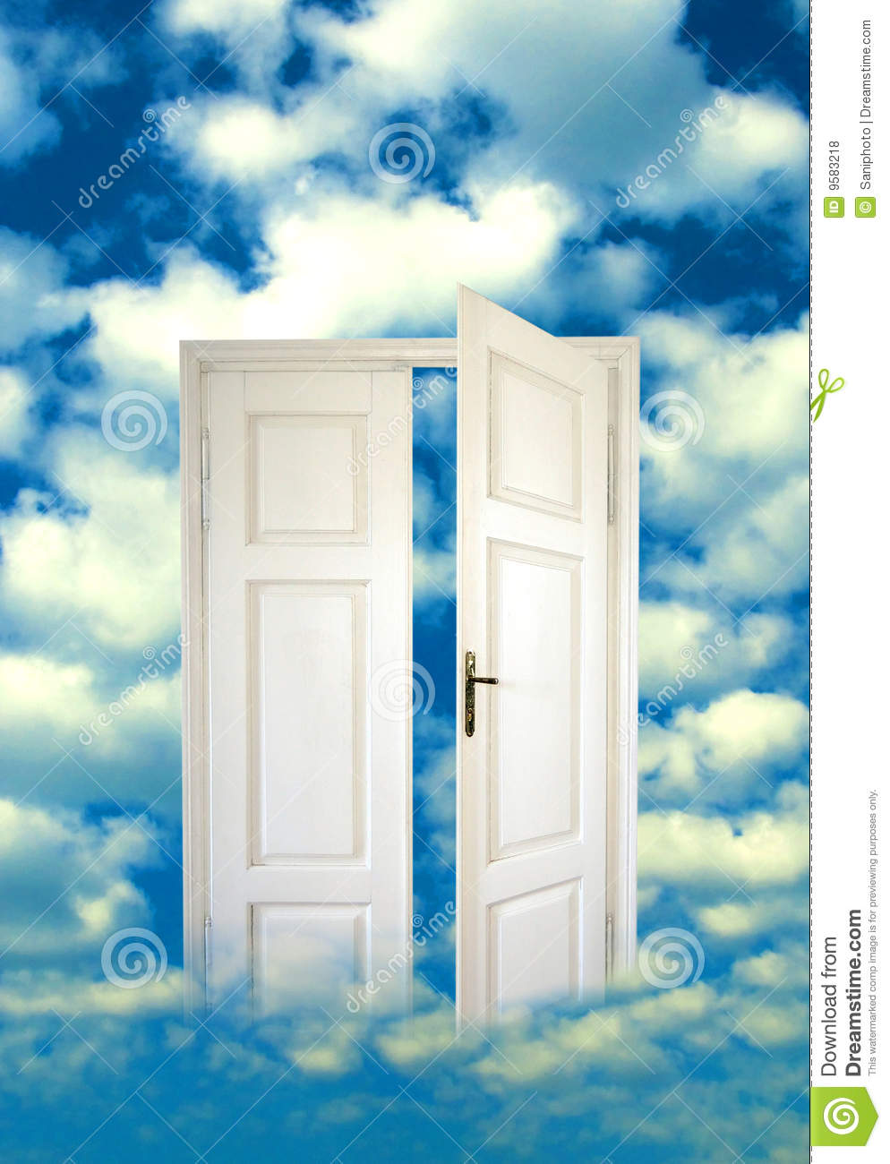 Open door in the sky royalty free stock photos image for Porte ouverte