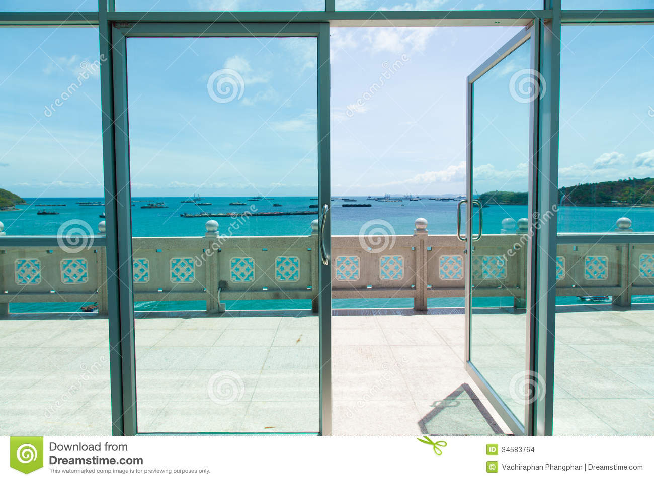 Open the door to balcony stock photo image of open for Closed balcony