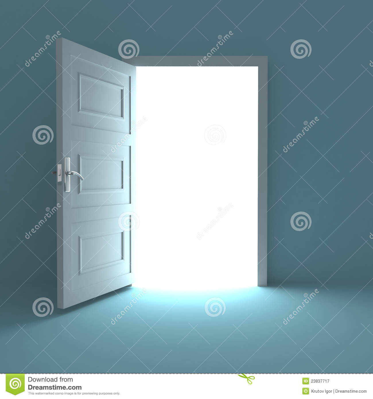 Open Door To White Light Royalty Free Stock Photography - Image ...