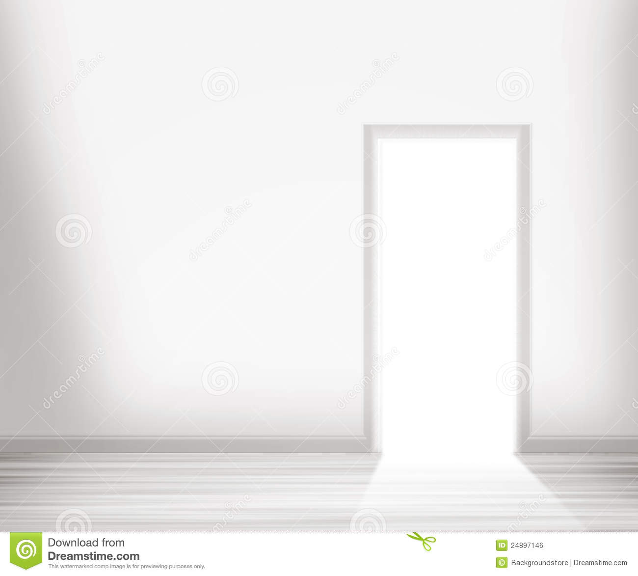 Open door in the white wall royalty free stock image for Door in the wall