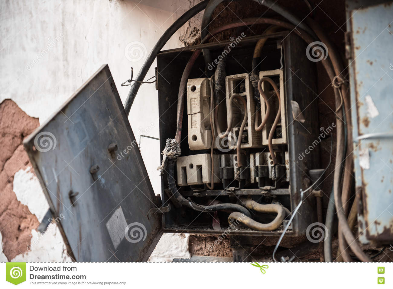 open electric box fuse wires fuses inside red fort delhi cover seen broken brick 72470106 open electric box stock photo image of cabinet, frame 72470106 electric box fuses at eliteediting.co