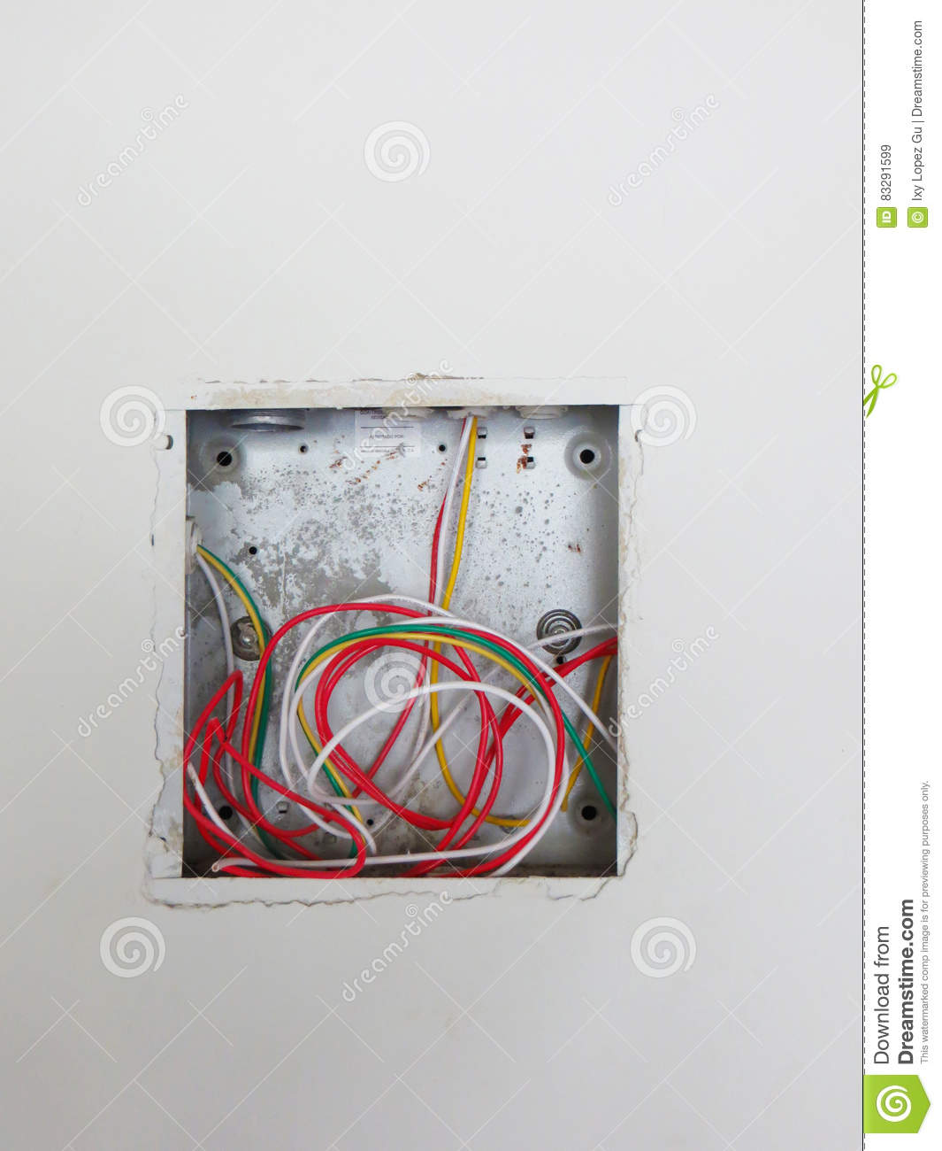 Open Electrical Box With Wiring Stock Image - Image of empty ...