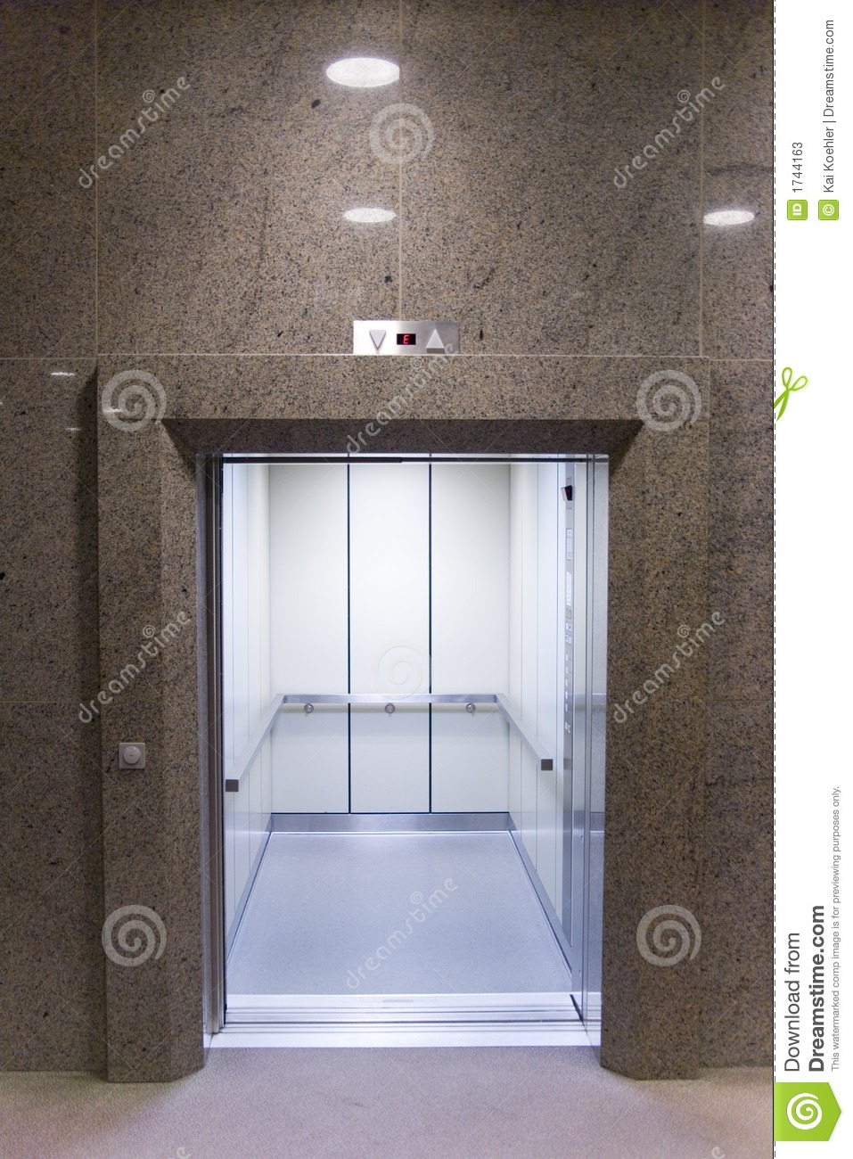 Open elevator royalty free stock photography