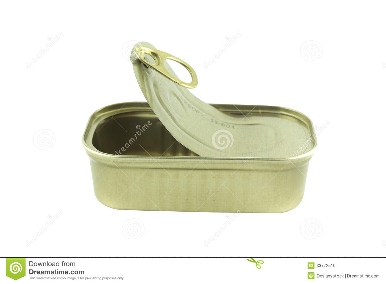 Open empty sardine can stock photo image 33772510 for Empty sardine cans