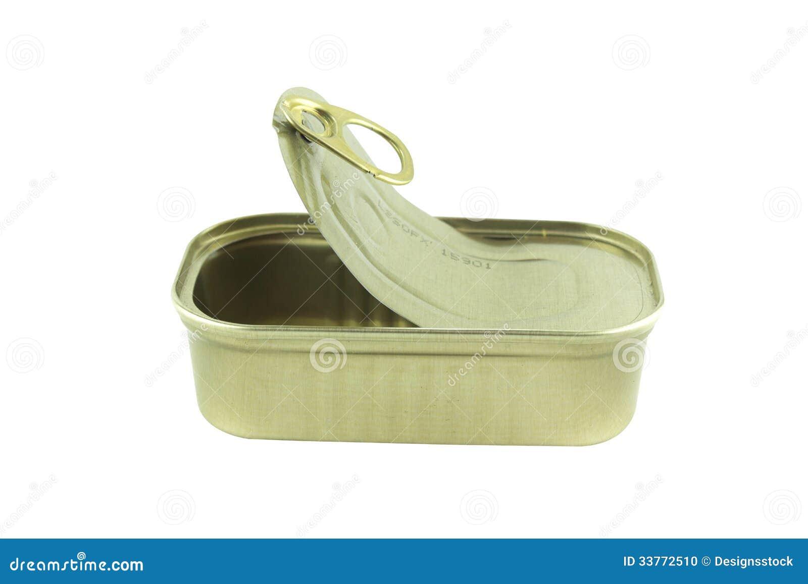 Open empty sardine can stock photo image 33772510 Empty sardine cans