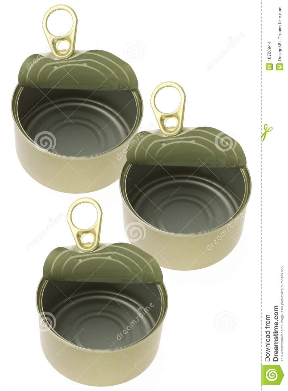 Empty Tin Can Stock Photography: Open Empty Tin Cans Stock Images