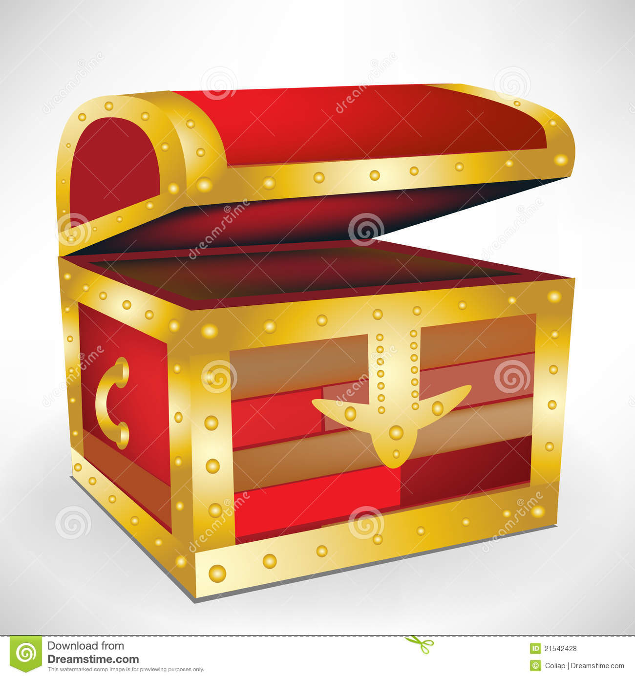 Open empty treasure chest stock vector. Illustration of pirate ...
