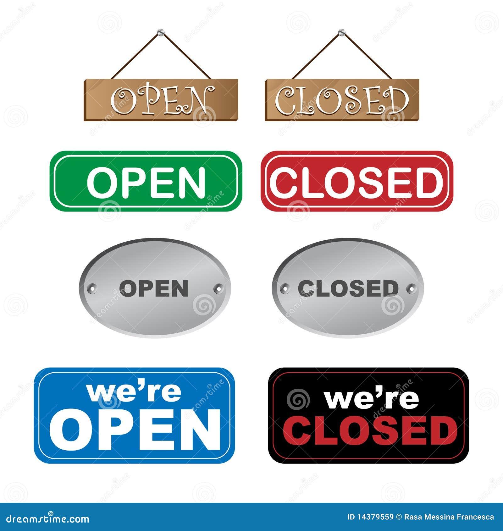 Open en gesloten tekens