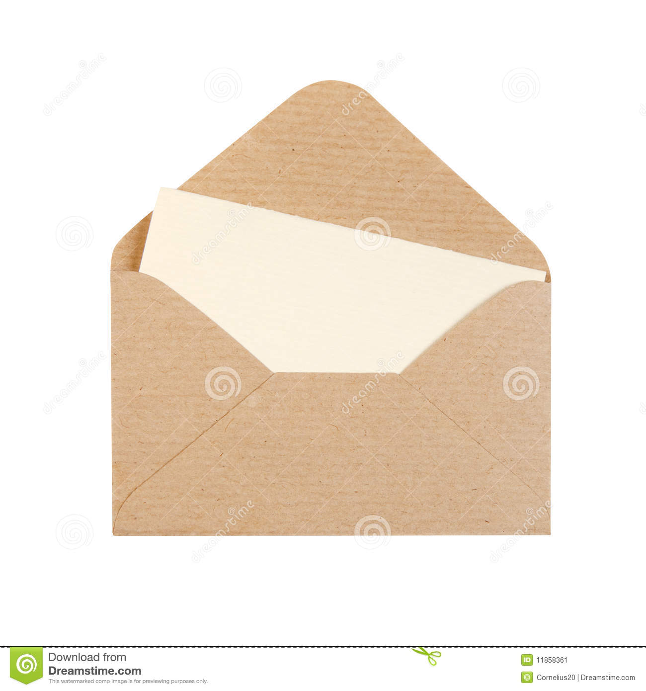 open envelope stock image