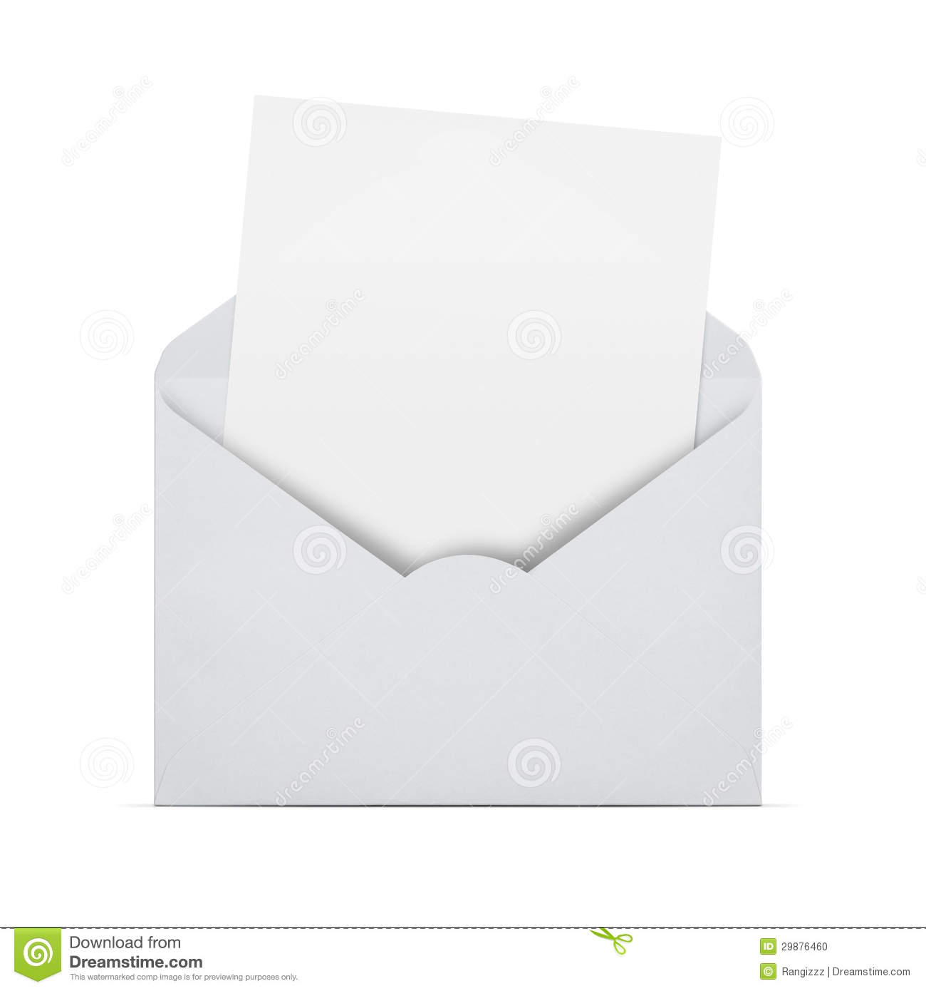 blank letter in an envelope stock photo image of package path