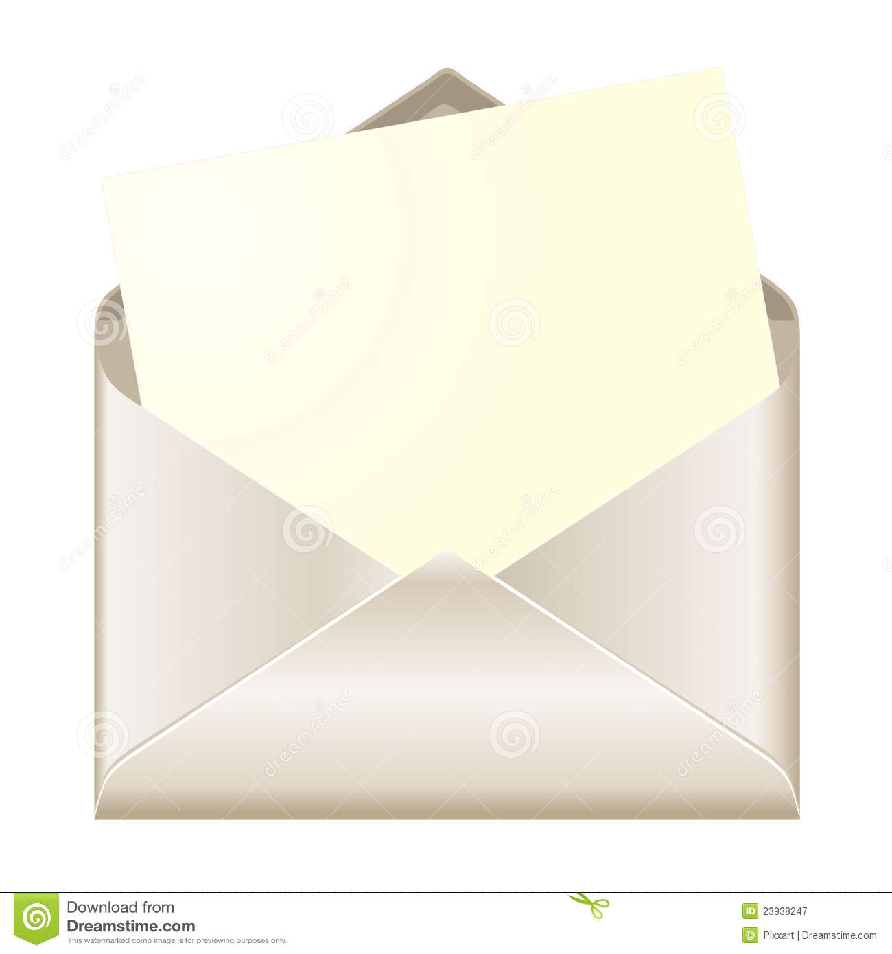 Open Envelope With Card Royalty Free Stock Photography