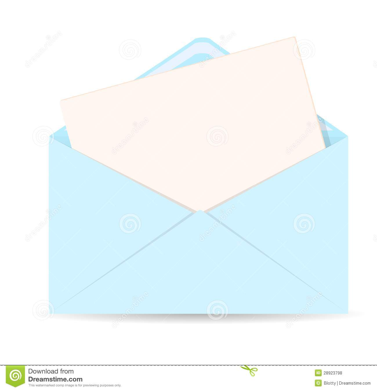 Open envelope with letter vector icon - EPS 10