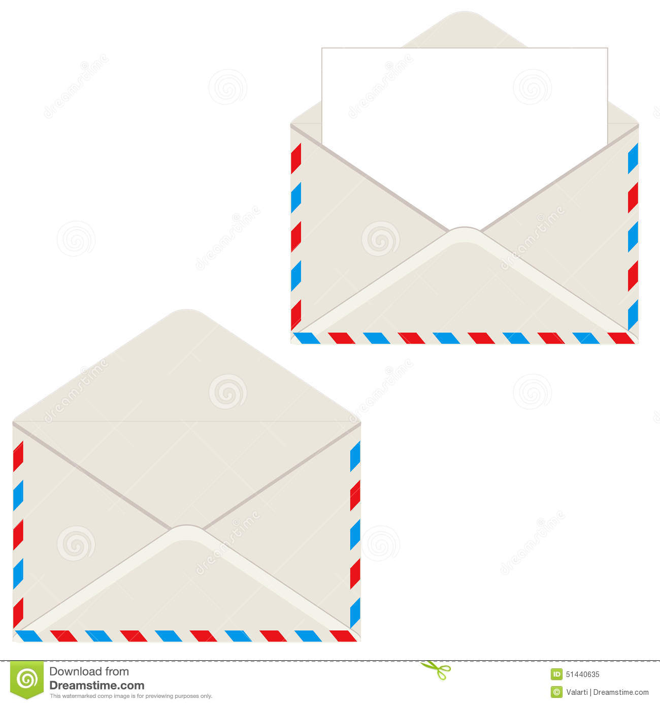 open envelope with letter stock vector. illustration of design