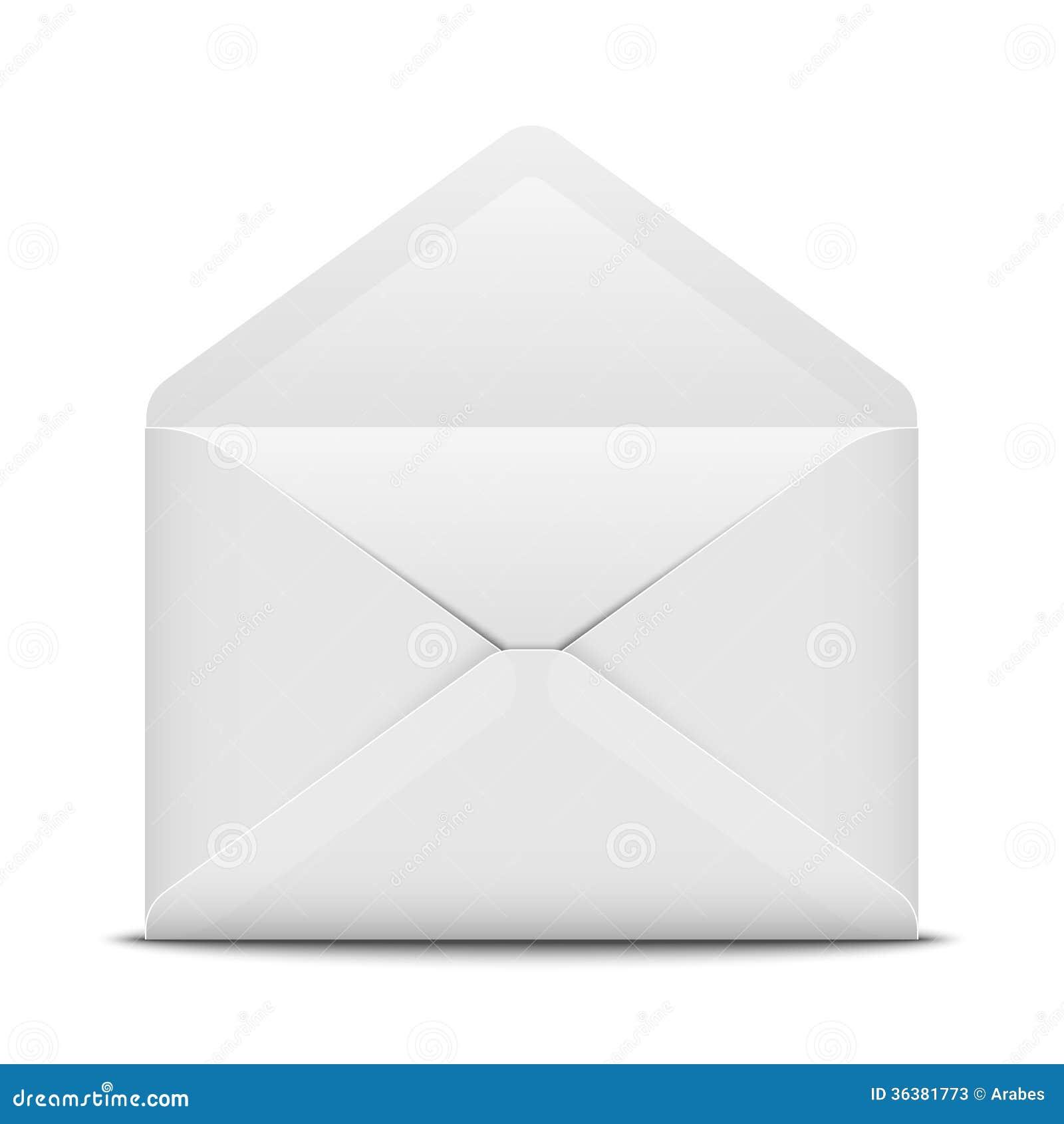 Open envelope stock illustration. Illustration of object