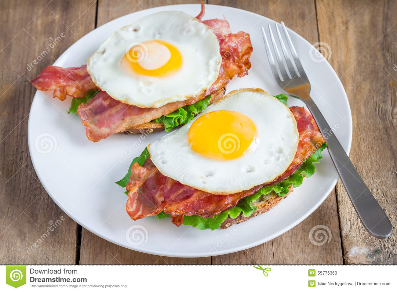 Open Face Sandwich Stock Photo - Image: 55776369