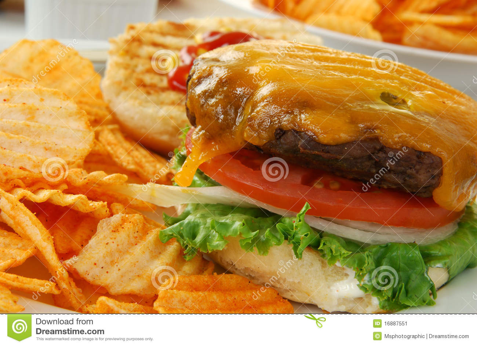 Open Faced Cheeseburger Stock Image - Image: 16887551