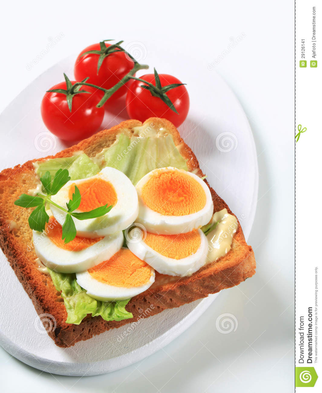 Open Faced Egg Sandwich Stock Image - Image: 29126141