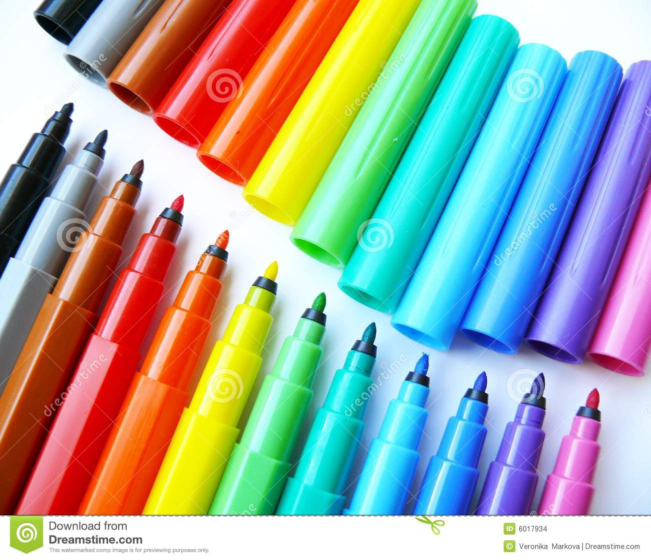 open felttip pens markers stock images image 6017934
