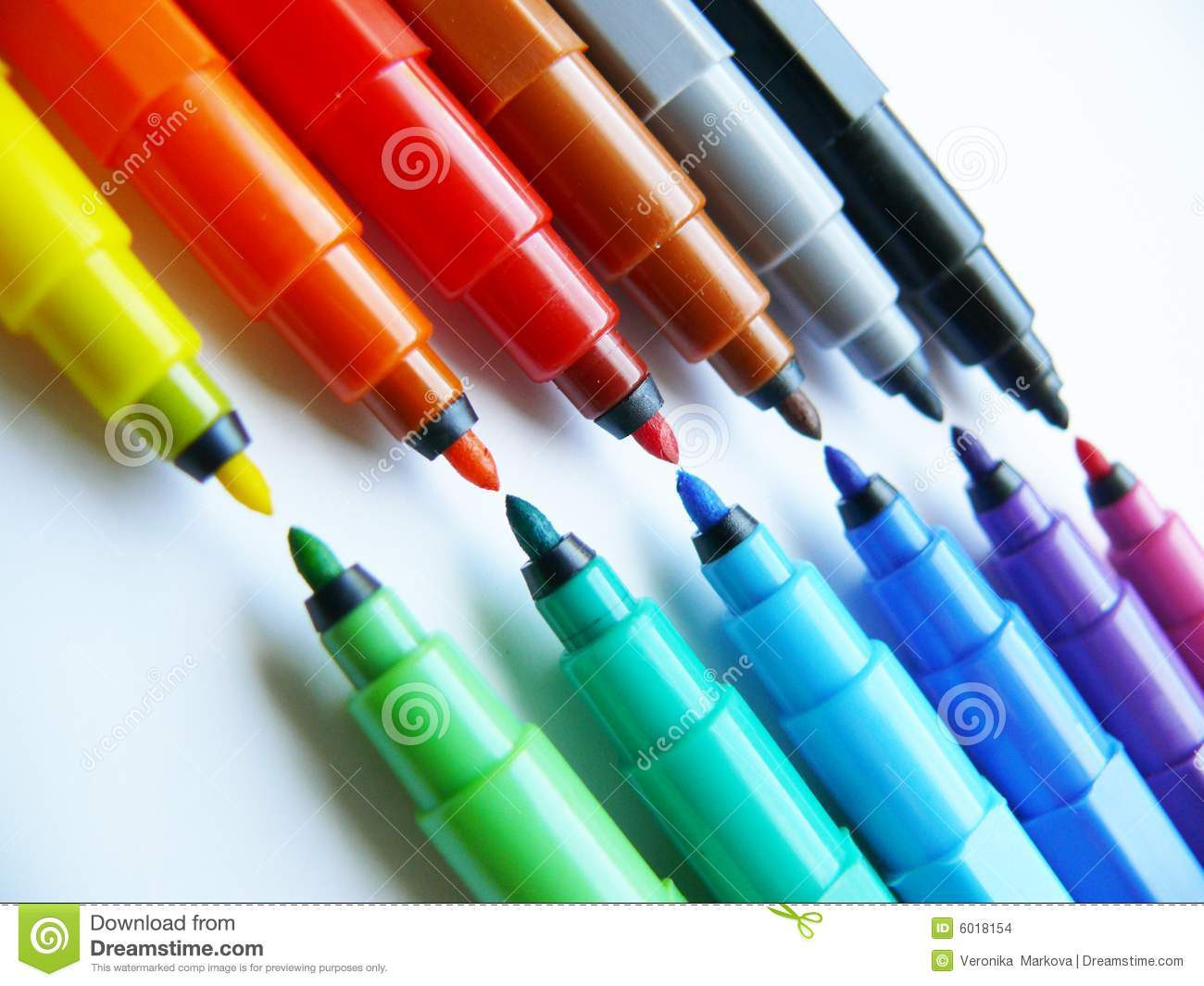 Open Felt Tip Pens Markers Stock Images Image 6018154
