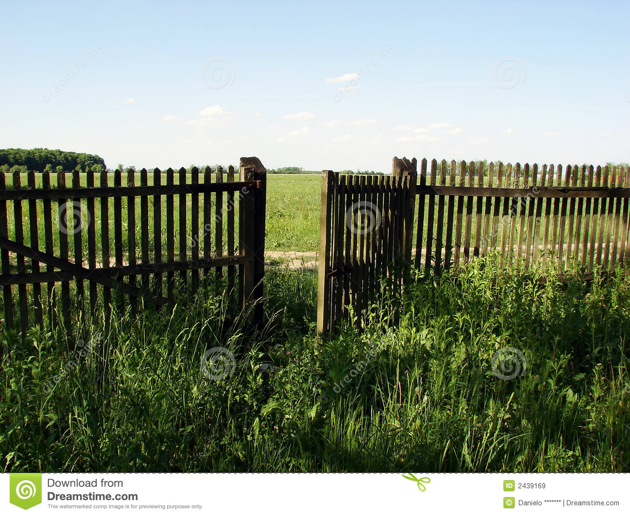Open fence door royalty free stock images image