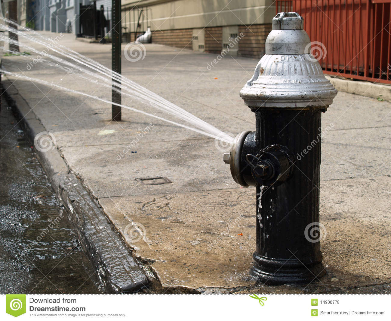 Open Fire Hydrant Royalty Free Stock Photos Image 14900778