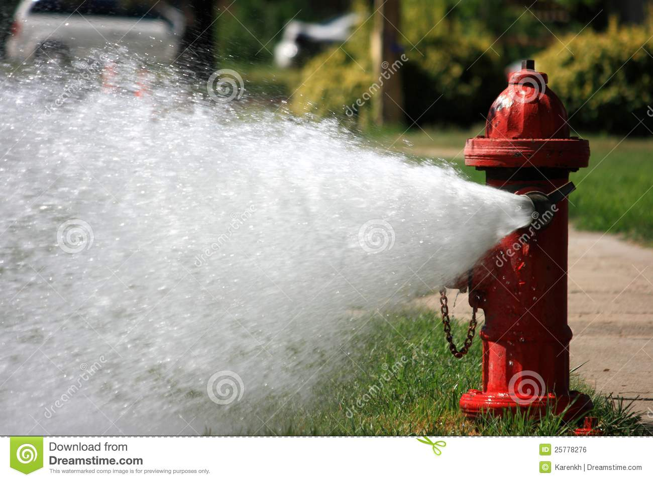 Download Open Fire Hydrant Gushing High Pressure Water Stock Photo - Image of plug, hookups: 25778276