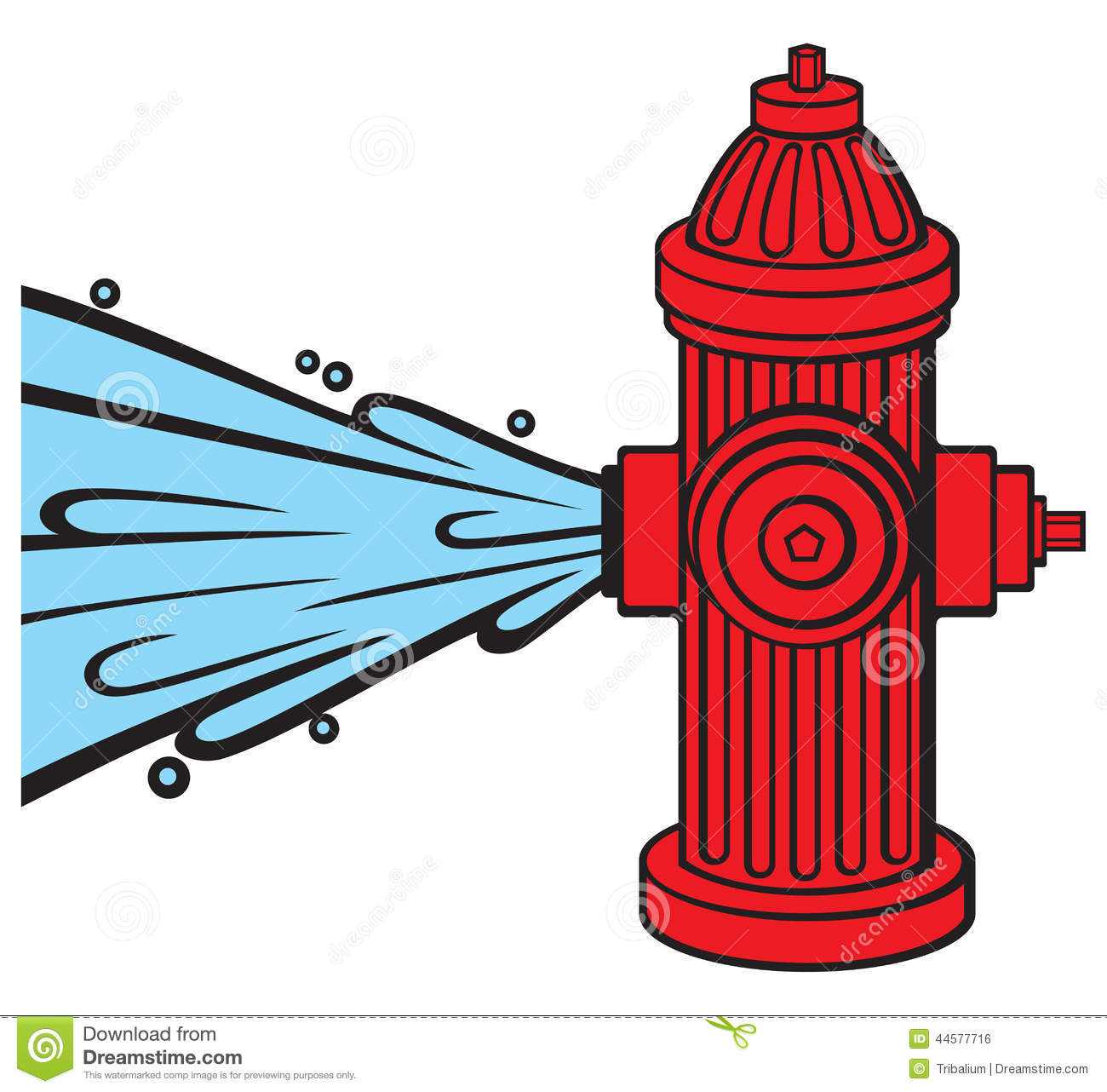 Clip Art Fire Hydrant Clipart open fire hydrant stock photo image 33336450 royalty free image