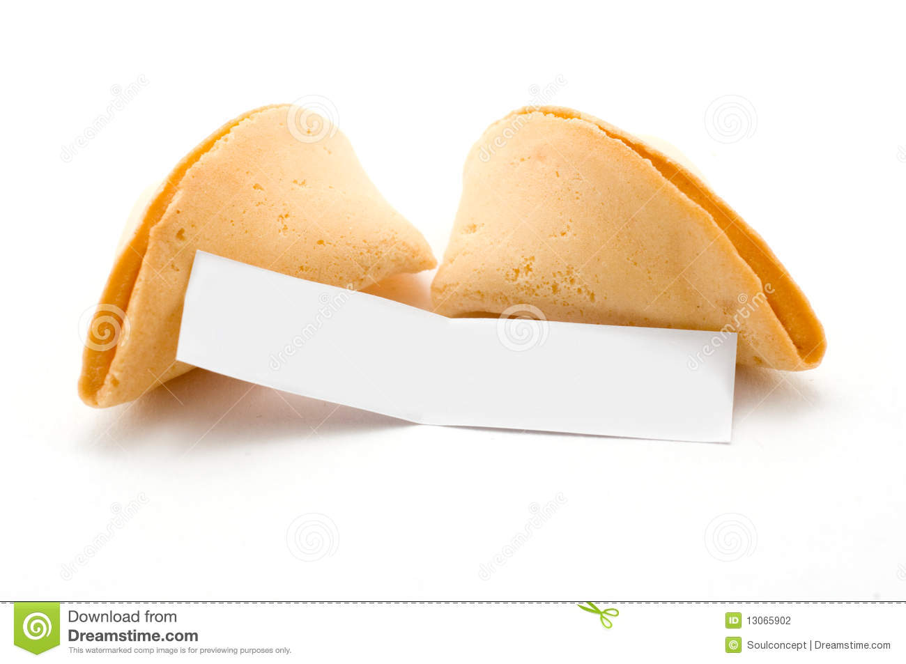 Open Fortune Cookie With Blank Message Stock Photography - Image ...